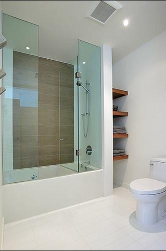 Glass Shower Tub Combo Dream Bathrooms Pinterest