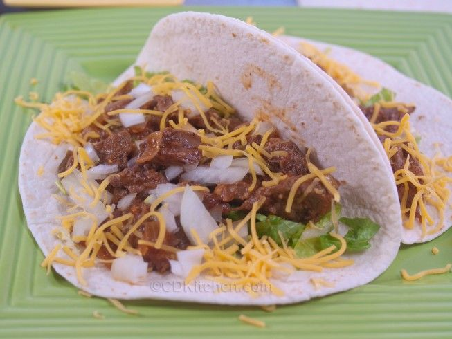 Slow Cooker Shredded Beef Soft Tacos | Recipe