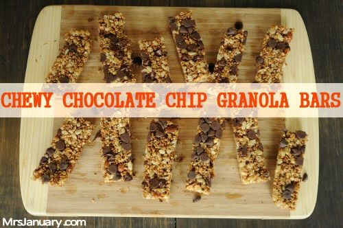 Check out this Chewy Chocolate Chip Granola Bars recipe and then you ...