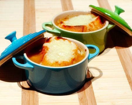 French Onion Soup with Thyme and Gruyère Crostini | Love & Olive Oil