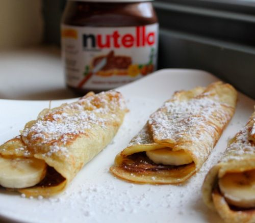 banana nutella crepe | Recipes Worth Trying | Pinterest