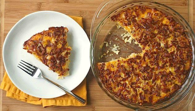 Easy potato, bacon + egg breakfast casserole from one of my sorority ...