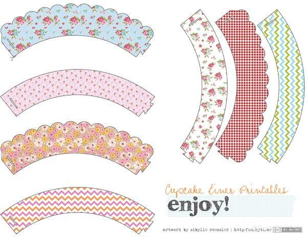 cupcake liner printables & DIY cupcake liners