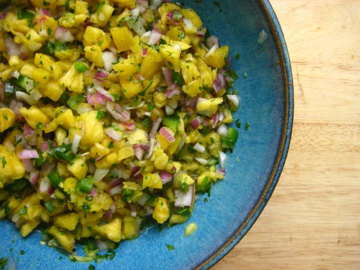 Pineapple salsa | yum | Pinterest