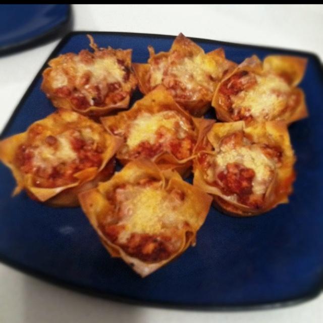 Lasagna Cupcakes! | food! | Pinterest