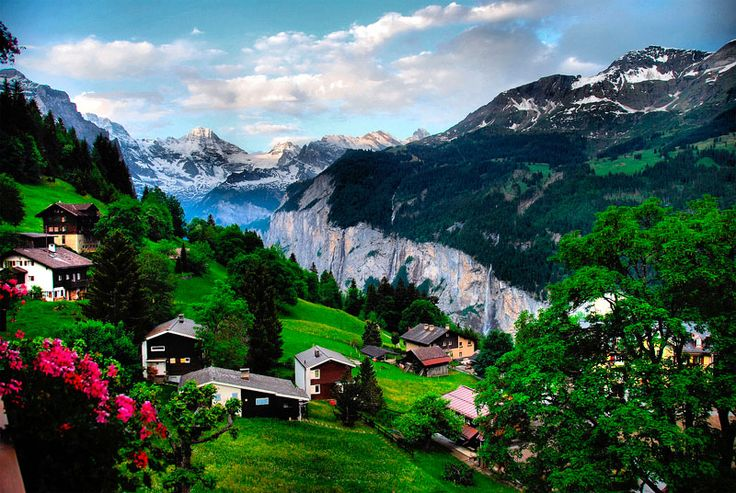 Wengen Switzerland  city photos gallery : Wengen, Switzerland.....who wouldn't want to spend some time here ...