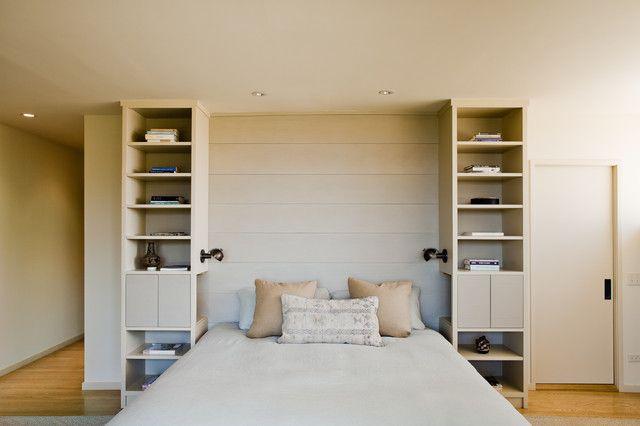 Maximize Bedroom Space Fascinating Of Bedroom Built in Headboard Photo