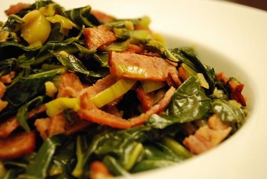 ... and greens hoppin john risotto with collard pesto garlicky greens