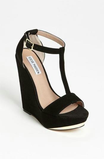 Black wedges, I'm addicted to Steven Madden shoes