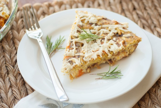 Vegan Caramelized Onion & Sweet Potato Frittata...this is a recipe I ...