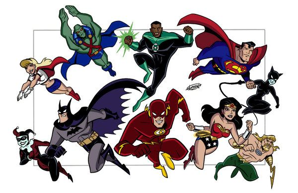 Cartoon Characters Justice League : Justice league bruce timm art comic book and cartoon