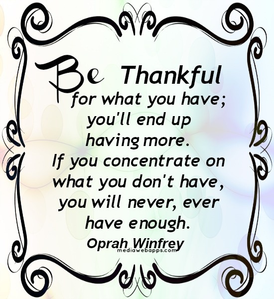 Art Be thankful quotes