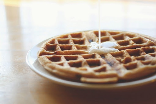 Brown Sugar Bacon Waffles with Buttermilk Syrup