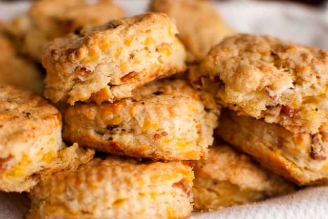 Bacon & Cheddar Biscuits | Bacon | Pinterest