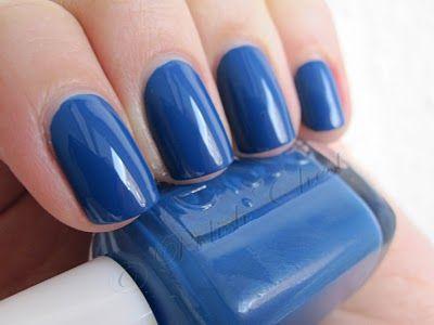 Essie Mesmerize.  Blue.  Bright.  Deep.  Rich.  Gorgeous. Nail polish.
