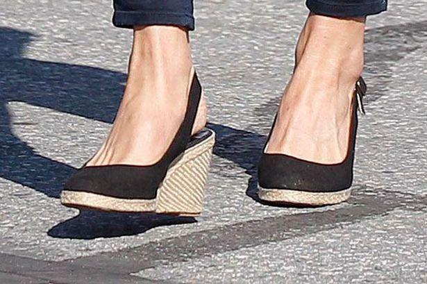 kate middleton sling back wedges shoes