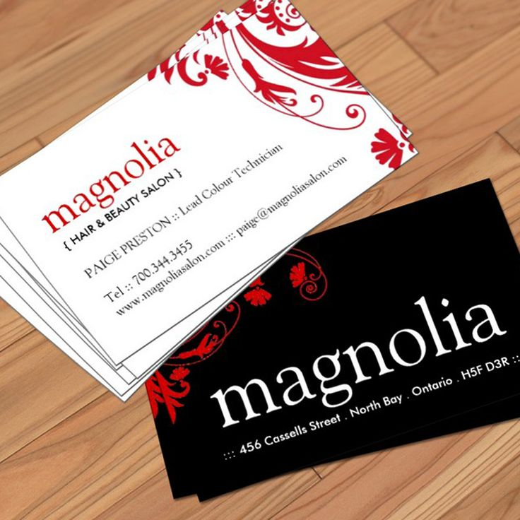 Paper for Salon business card templates