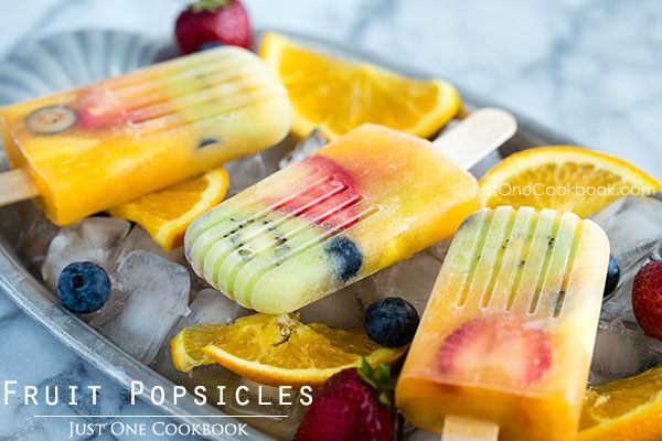 ... made with pineapple, nectarines, kiwi, blueberries, and strawberries