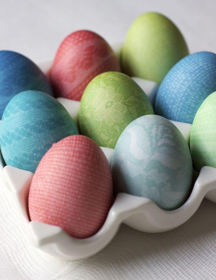 patterned easter eggs