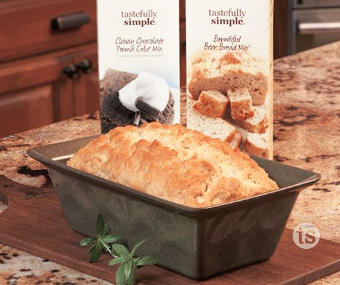 Pound cake and bread plus an artisan inspired ceramic loaf pan
