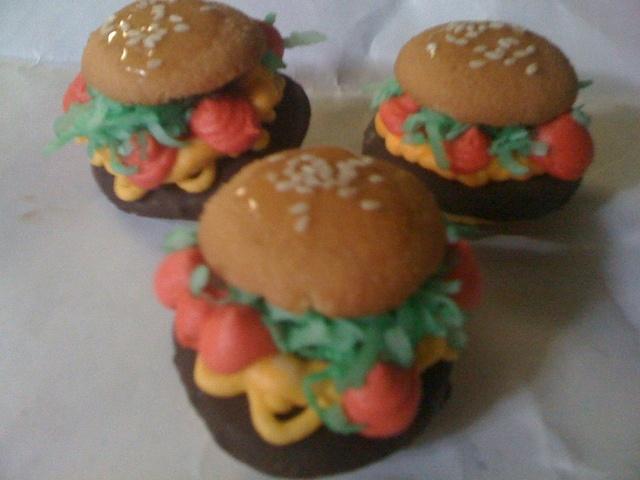 Mini Hamburger Cookies...YUM! | cookies | Pinterest