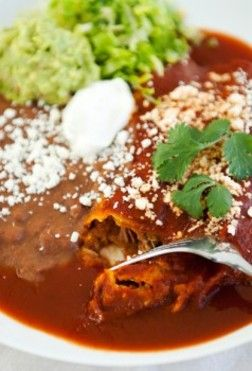 Beer Chicken Green Chile Enchiladas, made with India Pale Ale, roasted ...