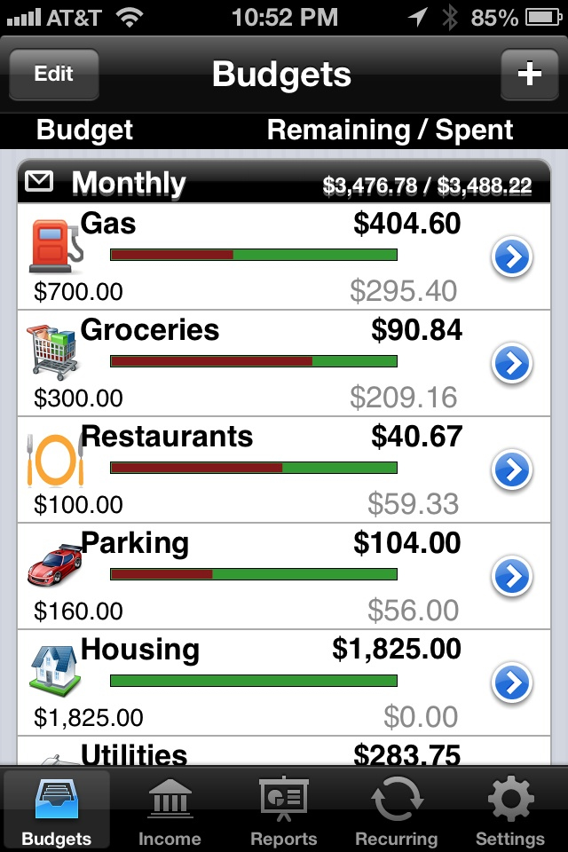 budget tracking app iphone