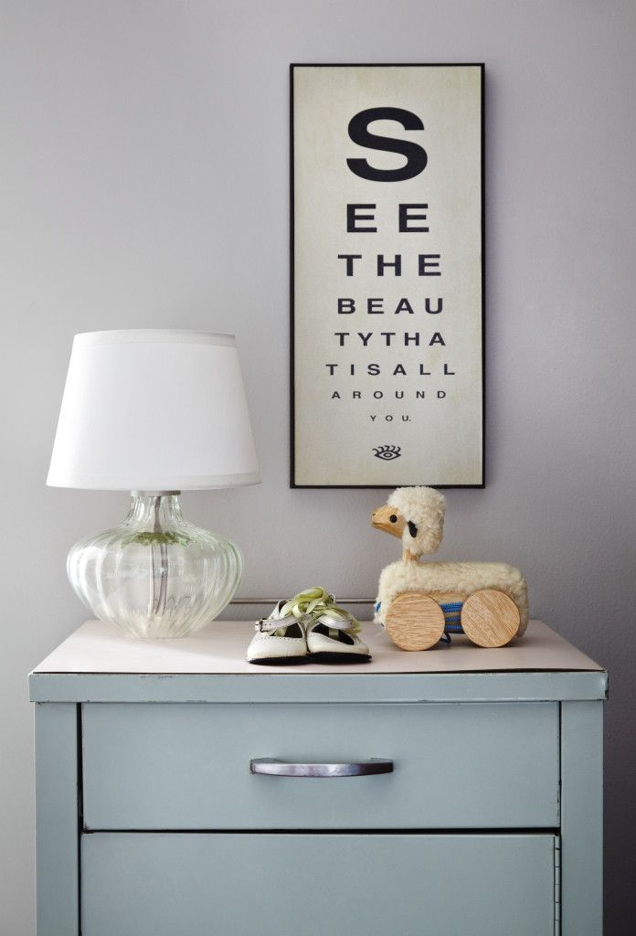 Eye examine anyone? Clever, graphic wall art - Project Nursery