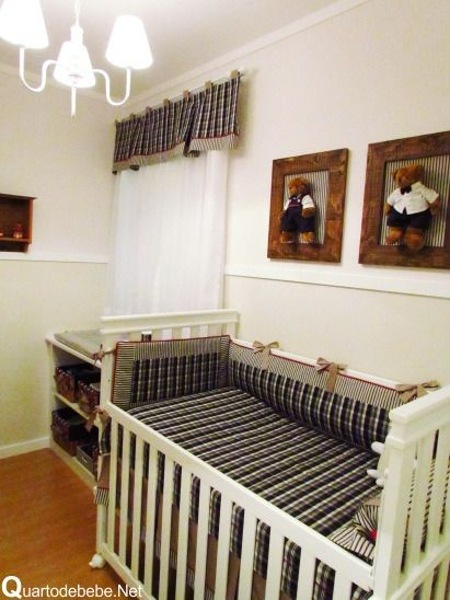 Quarto Casal Azul Marinho E Branco ~ quarto bebe azul marinho branco ursinho  Decora??o  Quarto de