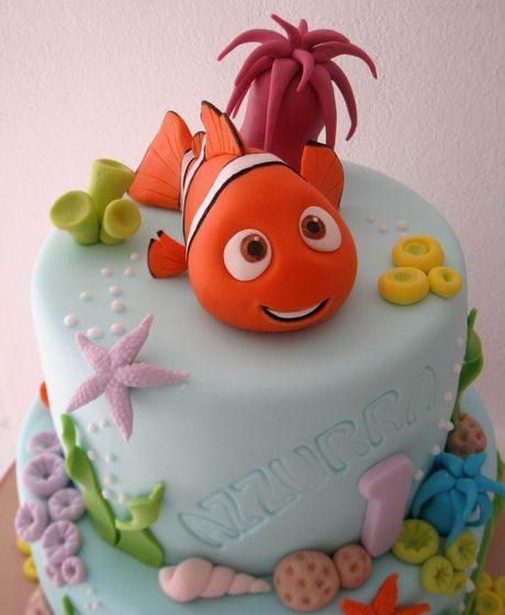 Nemo Cake.  My friend makes darling cakes like this.