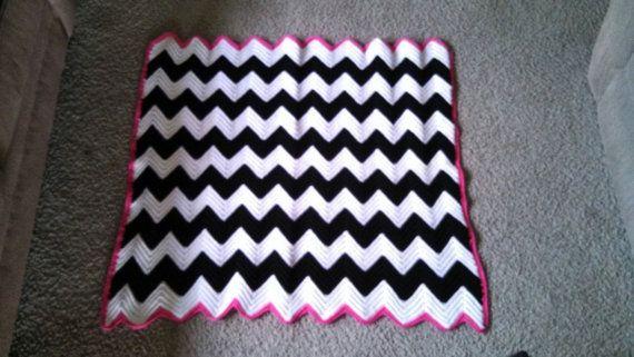 Crochet Pattern Zebra Chevron Crochet Afghan, Zebra Black ...