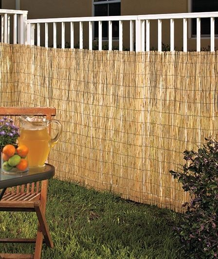 Woven reed privacy fence screen 10x4 weave fabric mesh for Cheap tall privacy fence