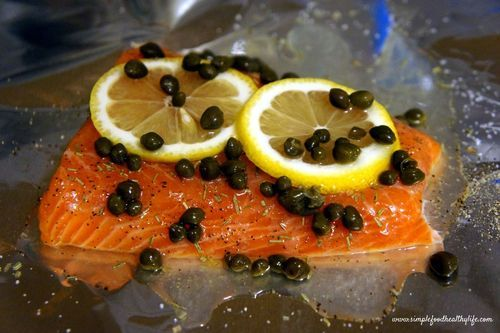 Lemon Caper Baked Salmon | Food - Seafood | Pinterest