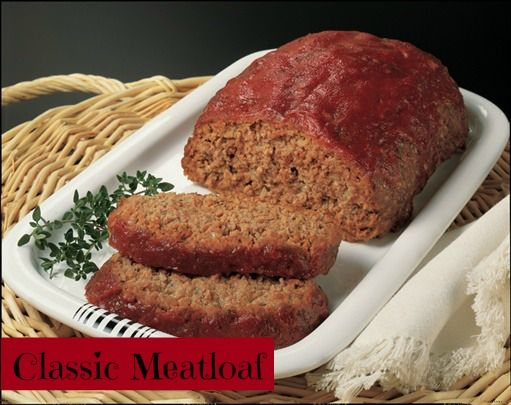 Classic Meat Loaf for #TBT   Recipes   Pinterest