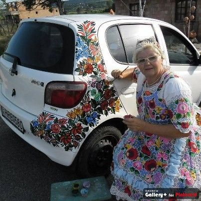 Hand Painted Car Nice Pinterest