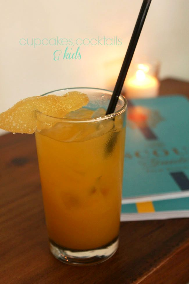 Black Tea Tangerine Ginger Cocktail - perfect for summer sipping # ...