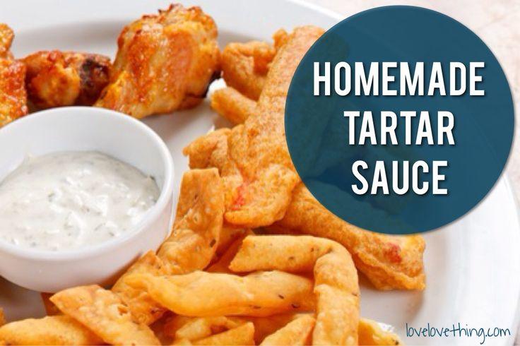 Homemade tartar sauce recipe - quick and easy