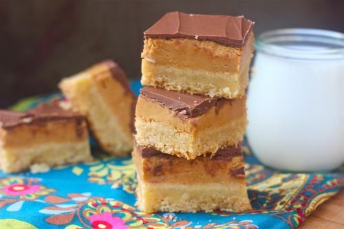 chocolate peanut butter shortbread bars | Things I want to bake | Pin ...