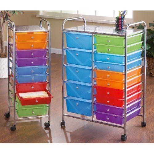 10 drawer rolling storage cart home craft room pinterest. Black Bedroom Furniture Sets. Home Design Ideas