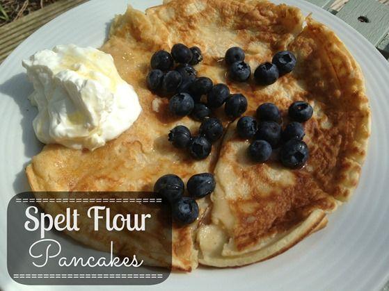 Recipe} Spelt Flour Pancakes | Fine breakfast & flat lunch | Pinter ...