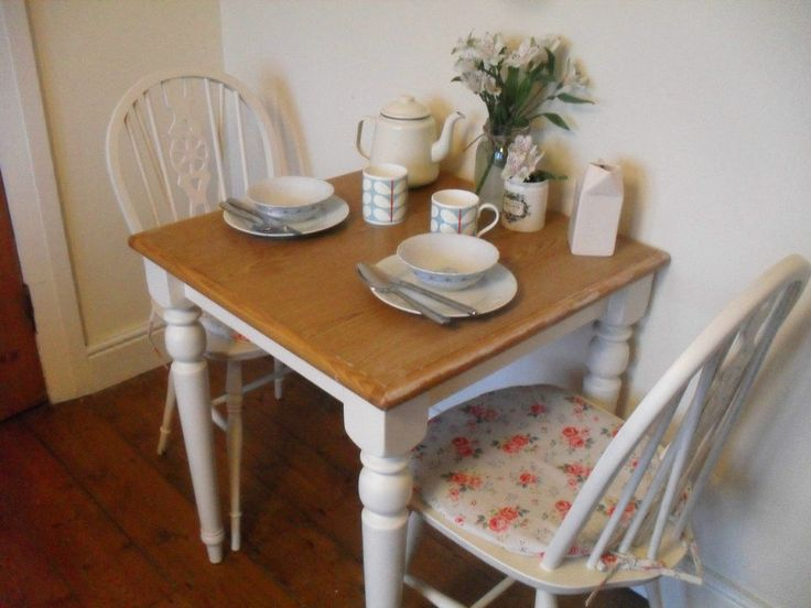 Shabby Chic Kitchen Table Chairs With Cath Kidston Seat Pads