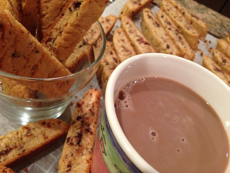 ... dipper. Becky Low shares her recipe for bacon chocolate chip biscotti