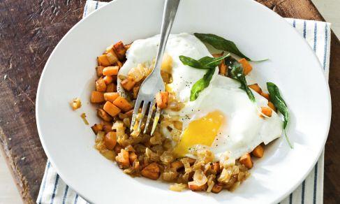 Potato Hash with Fried Eggs | Recipe