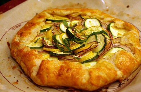 potato, leek, and feta galette | yummy foods | Pinterest