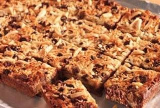 Chocolate Chip Toffee Bars with Almonds | Favorite Recipes | Pinterest