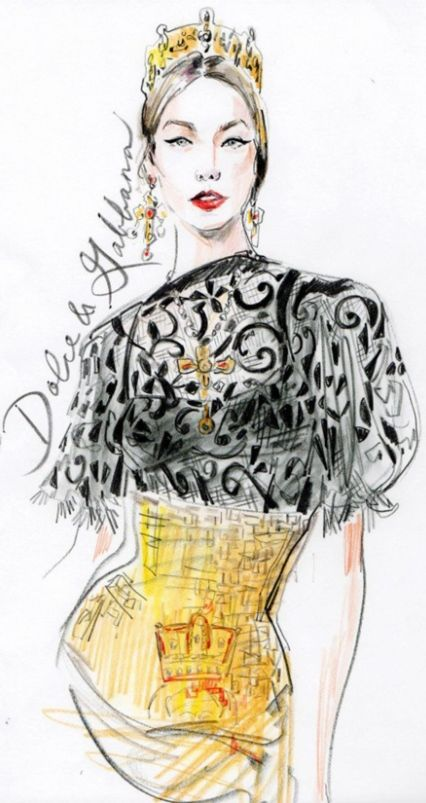 dolce gabbana fashion sketches dolce amp gabanna pinterest