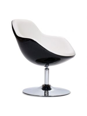 Lounge-Stoel Tequila zwart-wit  black and white  Pinterest