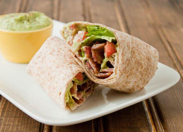 BLT Wrap with Avocado - creamy perfection! #recipe