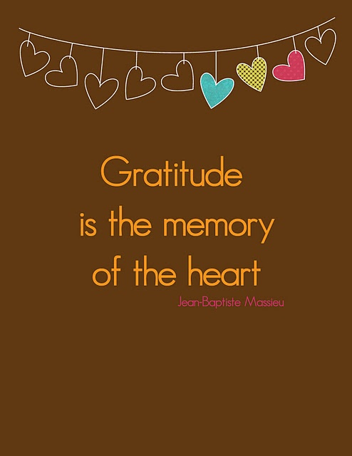 essay on gratitude is the memory of the heart