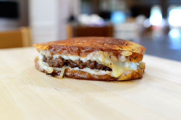 Patty Melts! Yummy! Only thing I would change would be to grill the ...